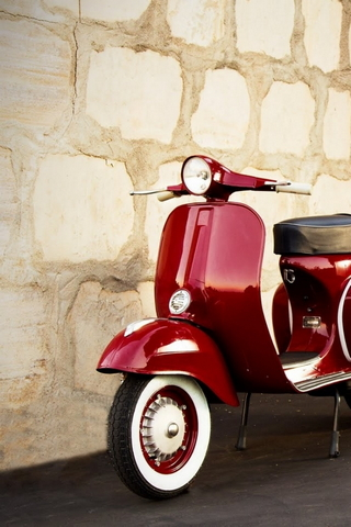 Red Vintage Vespa Wallpaper Download To Your Mobile From