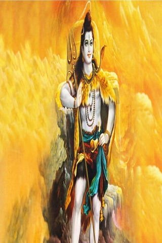 Fire Background Of Shiva