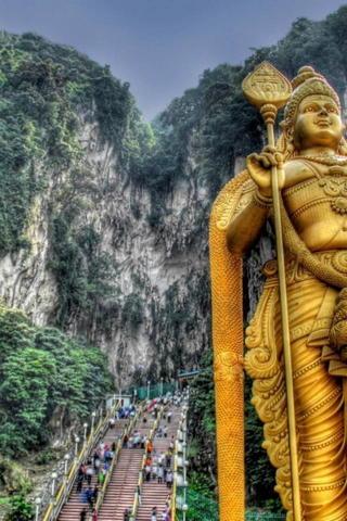 Golden Hindu Statue