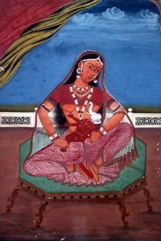 Pretty Parvati & Baby Ganesha