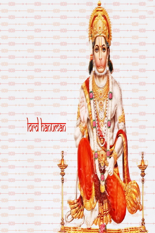 Colorful Background Of Hanuman