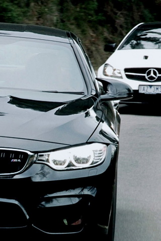 BMW M4 And Mercedes Amg