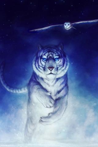 White Fantasy Tiger