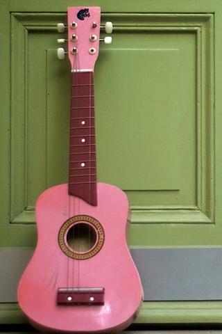 الغيتار الوردي