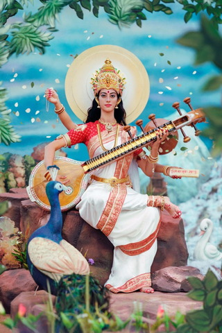 Goddess Of Hindu Saraswati