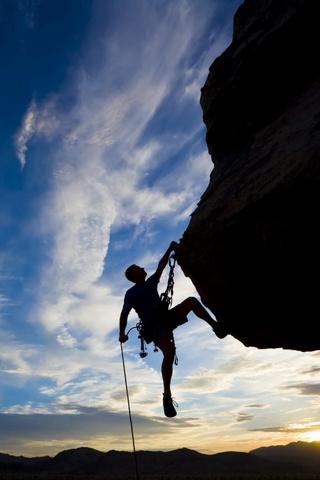 تسلق الصخرة