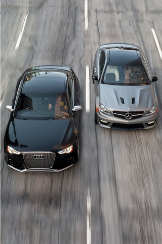 Mercedes C63 Amg And Audi Rs5