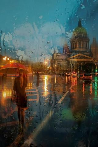 В дощ