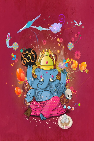 Playful Little Ganesh
