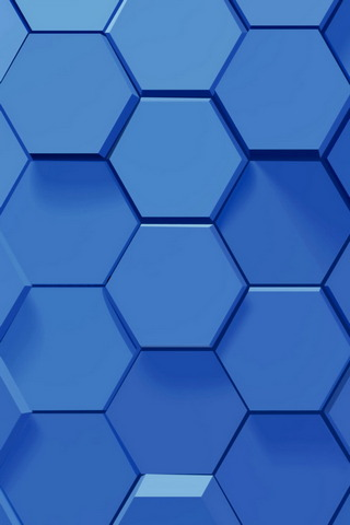 নীল Hexagons