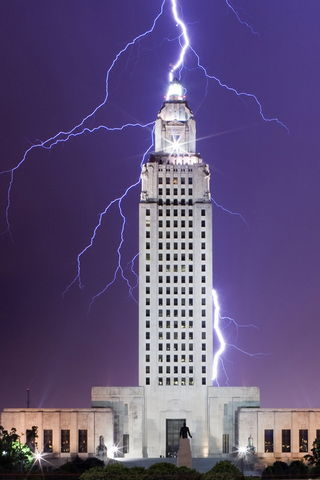 Lightning On Building