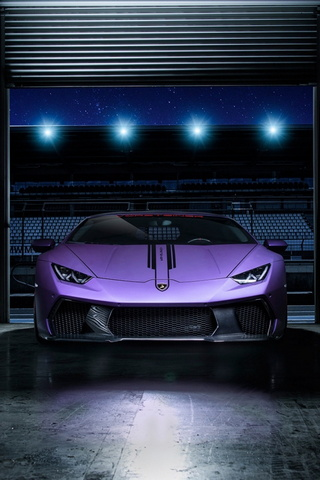 Purple Sport Car