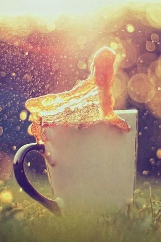 Bokeh Tea Splash