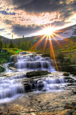 Sunset Waterfall