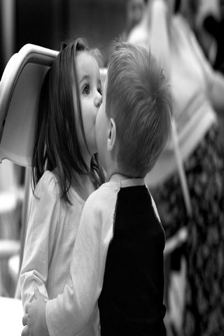 Kids Kiss Cute