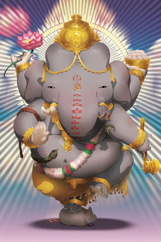 Cute Ganesh Sitting