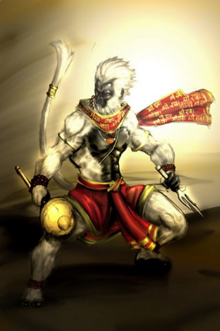 Fighting Hanuman