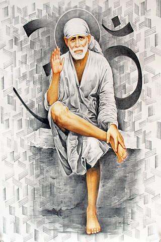 Sai Baba Sitting Style