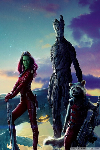 Gamora, Groot & Rocket Raccoon