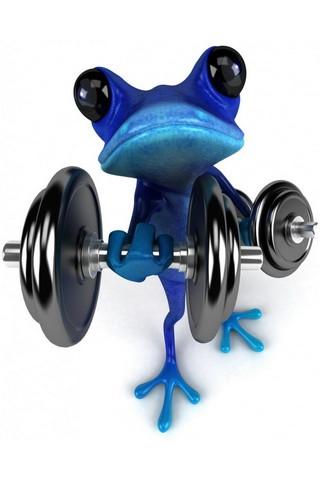 Funny Blue Frog