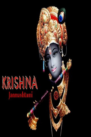 Black Background Of Krishna