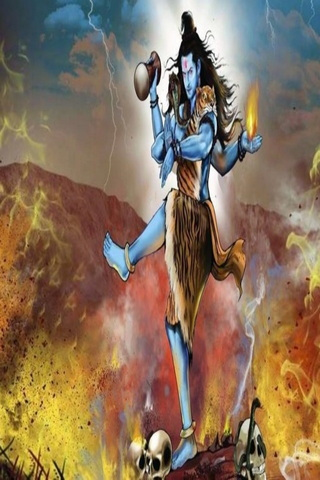 Mixed Colour Background Shiva