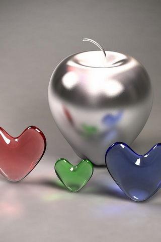 Apple&hearts