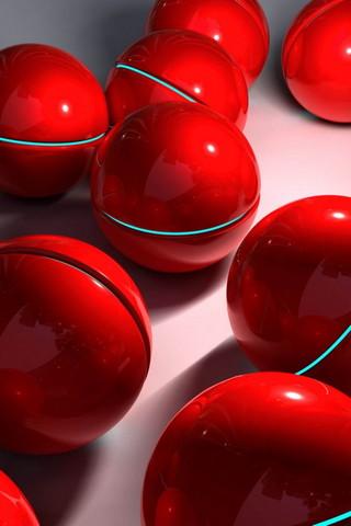 3D Red Balls