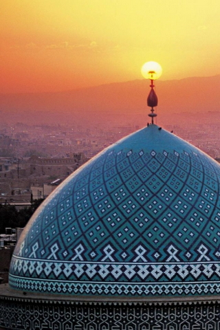 Al Haram Of Yazd Iran Mosque Dome
