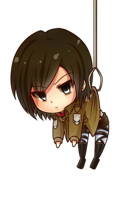 Mikasa Ackerman Chibi Wallpaper Download To Your Mobile From Phoneky