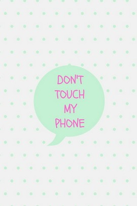 Mint Don't Touch My Phone