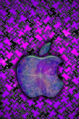 Purple Puzzle Apple