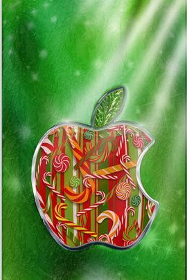 Christmas Present Apple Logo