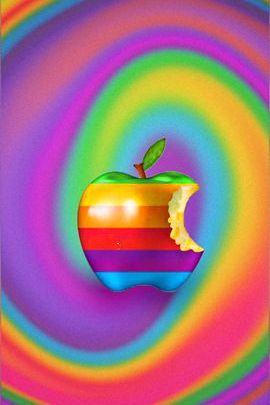 Rainbow Swirl Apple