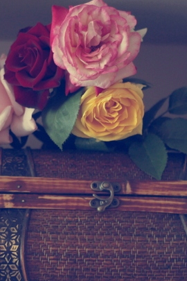 Flowers And vintage Box