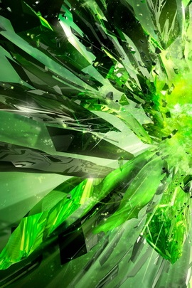 Green Sparkling Wave
