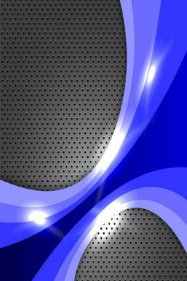 Abstract Blue Grille