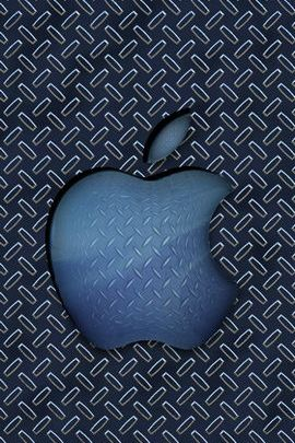 Blue Diamond Plate Apple