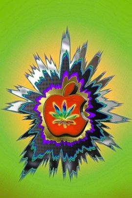 Metal Marijuana Apple
