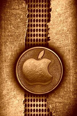 Ripped Metal Copper Apple 02