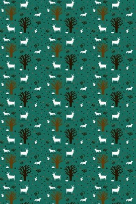 Goat Pattern Background