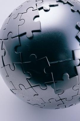 Puzzle Ball Black Component Universe