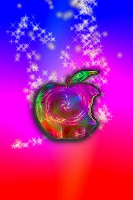 Galaxy Swirl Apple