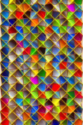 Colored Glass Lattice