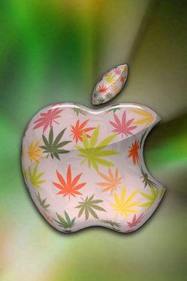 カラフルなマリファナアップル