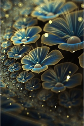 Artistic Blue Flowers