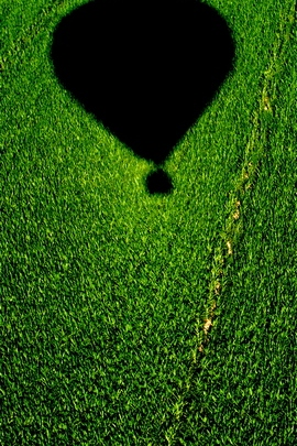 Balloonoveracornfield