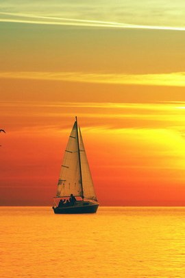 Sunset Sea Nature