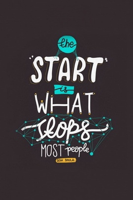Start Is What Stops People