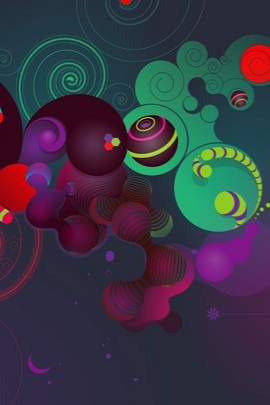 Colorful vector With Black Background